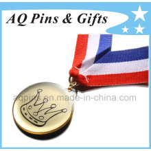Custom Metal Medal with Epoxy & 3c Ribbon