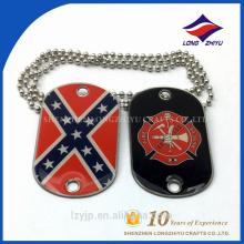Chaînes personnalisées en métal et imprimer de bonnes ventes Flag Dog Tag