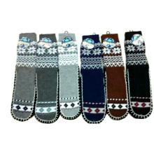 Homens Knitted Anti-Slip Natal Piso Meias Fábrica Fabricante