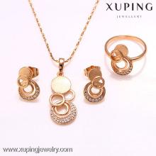 62216-xuping 18k nouveau design dubai 18K plaqué or ensemble de bijoux