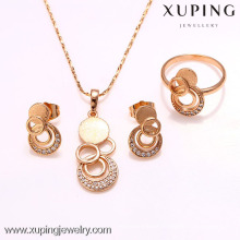 62216-xuping 18k newest design dubai 18K gold plated jewelry set
