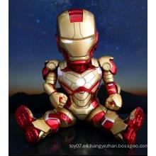 Acoplamiento móvil personalizado PVC figura de acción de hierro hombre muñeca juguetes