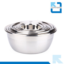 Multi-Size Thickened acero inoxidable Mezcla Bowl Set Salad Bowl