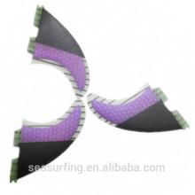 medio carbono diseño color púrpura nuevo trimestre modelo Hex fcs 5g aletas al por mayor