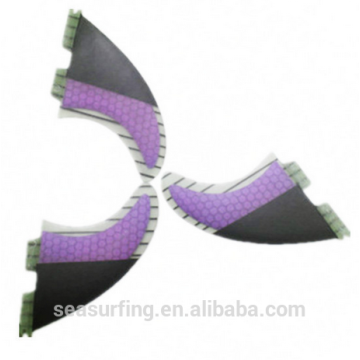 half carbon design purple color new quarter model Hex fcs 5g fins wholesale