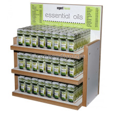 3-Layer Table Top Custom Body Oil Display Rack, Wooden Fragrance Or Essential Oil Display Rack