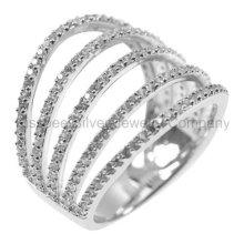 Jóia de prata de moda anel chapeado (kr3098)