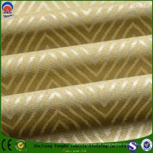 Jacquard poliéster Revestimento resistente à chama flocagem Black out cortina tecido com SGS Certificação