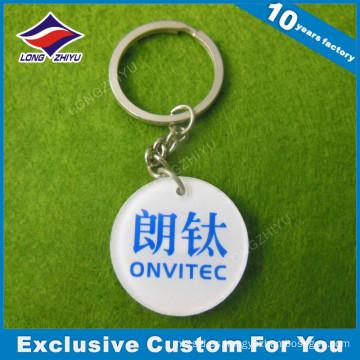 Llavero irregular del logotipo de encargo del PVC