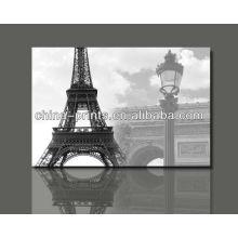 Affiche d'art célèbre de la Tour Eiffel de Paris / Reproduction d'art sur toile / Peinture Affiche d'art