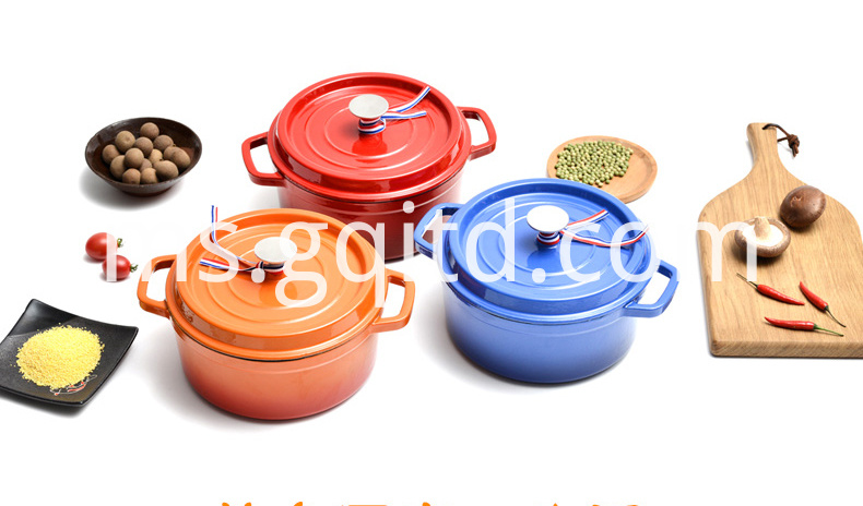 colourful enamel stewpot
