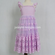 Party Organza Floral Princess Girl Dress
