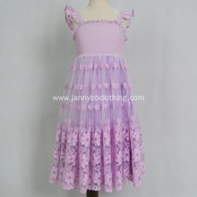 Party Organza Floral Princess Girl Dress