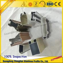 Extrusion d'aluminium série 6000 pour profilé de porte coulissante