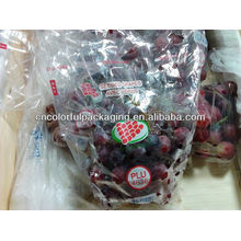 Bolsa de uva de plástico / bolsa perforada / slider Ziplock Grape Bag