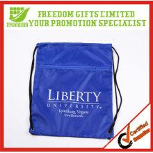 Mais populares Best Selling Promocionais Poliéster Blank Drawstring Bag
