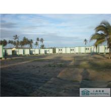 Construction préfabriquée de maisons Maison de campement modulaire Bonne isolation Prefab Low Cost (shs-fp-camping004)