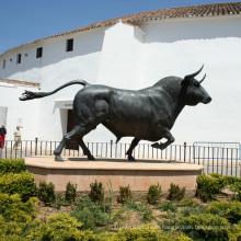 Sculpture en taureau de bronze de fonte de statues populaires de conceptions pour la décoration