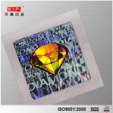 Billig gestanzt Hologramm Aufkleber Blatt für Siegel Verpackung