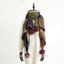 100% акриловый женский зимний вязаный шарф