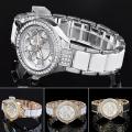 New Style Quartz Alloy Watch with Zircons for Ladies Bg340