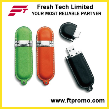 Leather Style USB Flash Drive with Your Logo (D505)