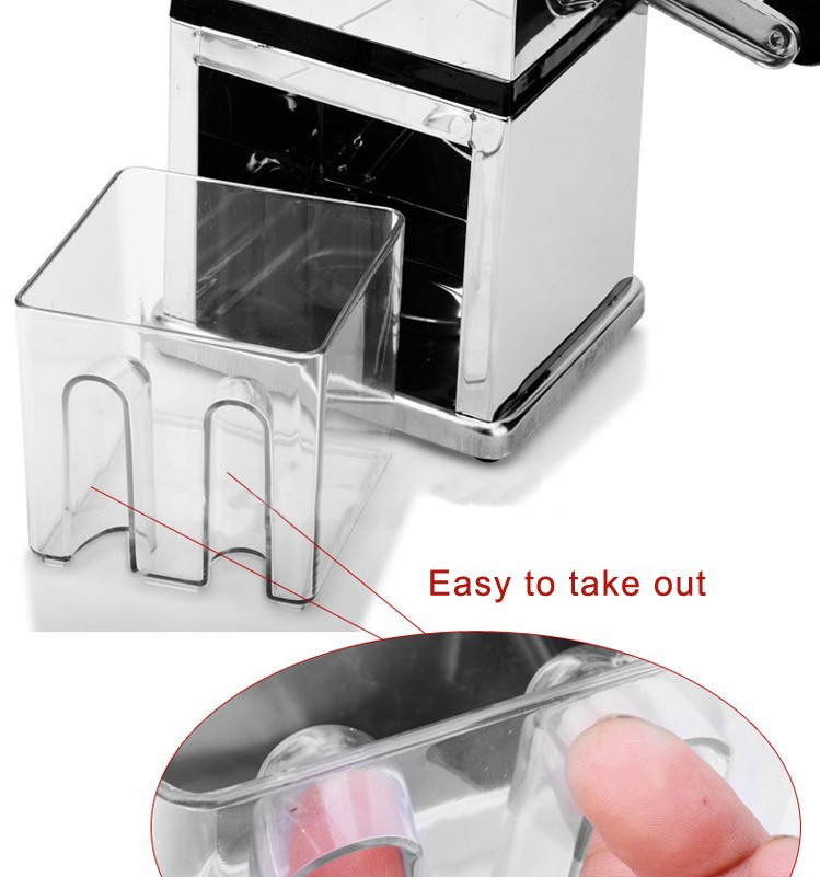 China Supplier Home use Zinc Alloy Portable Manual Ice Crusher Machine