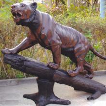 тематический парк скульптура металл ремесла бронзовый тигр статуя на продажу