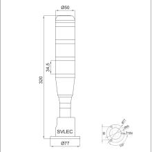 torre de luz multifuncional