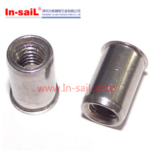 Stainless Steel Reduce Head Round Body Plain Rivet Nuts