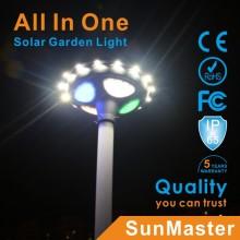 UFO Design Auto Sensing IP65 15W Luz solar para jardín