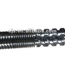 compteur parallèle bimétallique, rotation des deux hélices pour machine d'extrusion de PVC