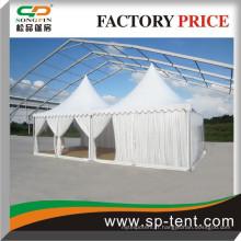 5x5m Clear Ridge Function Tents avec des flancs clairs et des pagodes de gezabo