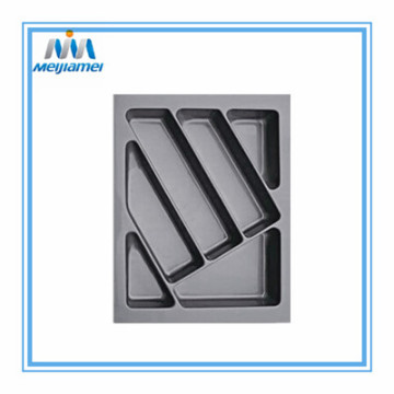 Fast Delivery for Cutlery Trays For Drawers 400Mm High Quality Cutlery Insert in Glossy Grey supply to India Manufacturer