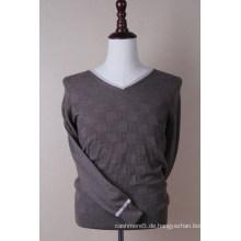 Klassischer Cashmere-Pullover mit V-Ausschnitt für Herren