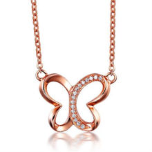 Mariposa Charm Necklace Rose Gold