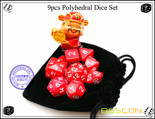 9pcs Polyhedral Dice Set-18