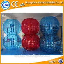 Wristband bola hinchable cuerpo bola de parachoques inflable vidrio burbuja balón de fútbol