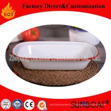 Vaisselle de Sunboat / plat de tarte d'émail de vaisselle