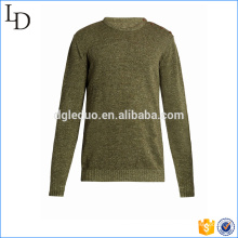 Shoulder button fastening Knit sweater men pullover design