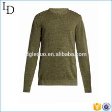 Ombro botão de fixação Knit sweater men pullover design