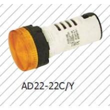 Lámpara indicadora amarilla de 22 mm, lámpara de señal roja, Greem, azul, blanco,