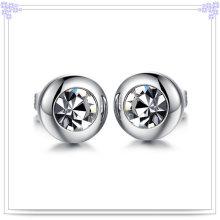 Jóias de moda Brinco de cristal brinco de aço inoxidável (EE0063)