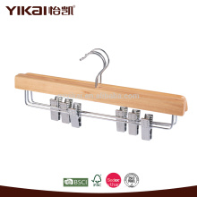 Hotel using natural wood trousers hanger