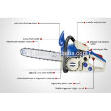 Scie à chaîne à essence de 16 po 1200W Easy Start CE / GS / EMC / EU2 Agrément GW8227