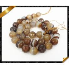 Fil d'agate ronde facetté, perle de bijoux en pierre à la mode chaude (AG007)