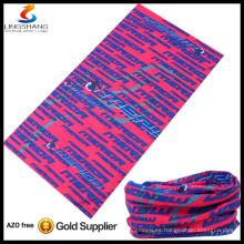 caliente barato al por mayor 100% poliéster cuello tubo bufanda multifuncional sin costuras pañuelo tubular personalizado