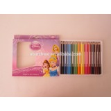 Round Shaped Color Pencil Set , 24 Color Pencil Set , wood crayon color pencils set