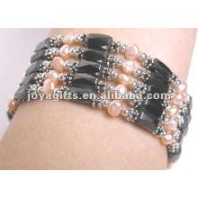 "Magnetische rosa Perle Perlenverpackung Armbänder & Halskette 36 """