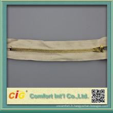 #4 YG fermeture éclair avec bande de coton